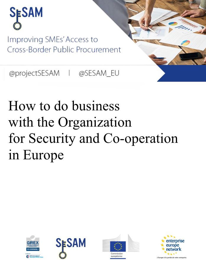 How to do business with the Organization for Security and Co-operation in Europe (EN)