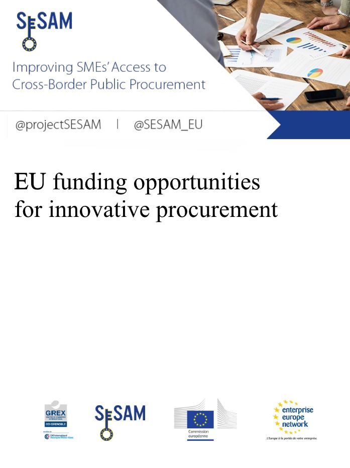 EU funding opportunities for innovative procurement (EN)